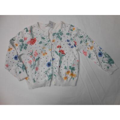 92-es fehér virágos kötött kardigán - H&M