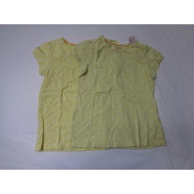 110-116-os sárga pálmafás pólók. 2 db egyben