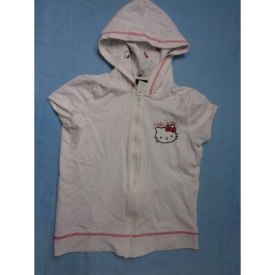 152-158-as fehér rövidujjú kardigán - Hello Kitty
