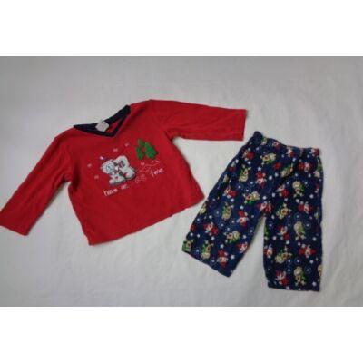 68-as piros-kék jegesmedvés pizsama