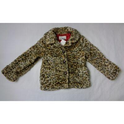 116-os barna leopárdmintás szőrmés kabát - Cherokee