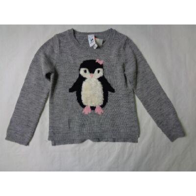 122-es szürke pingvines pulóver - C&A