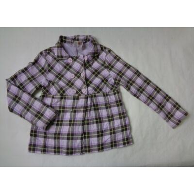 140-es lila kockás átmeneti kabát - Gymboree