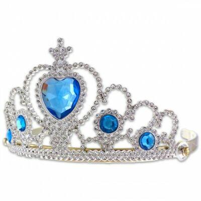 Kék köves ezüst tiara - ÚJ
