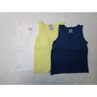 116-os kislány ujjatlan bordás pólók, 3 db egyben - F&F