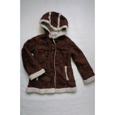 122-128-as velúr kabát szőrmével bélelve