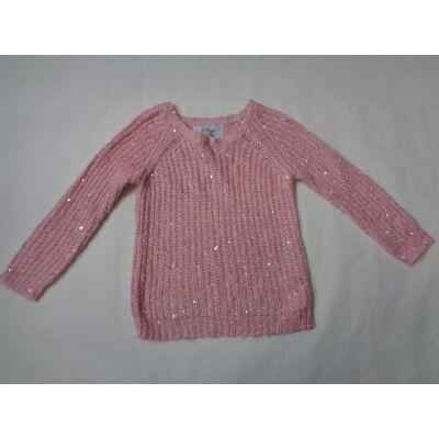 122-es rózsaszín kötött flitteres pulcsi - Young Diemnsion