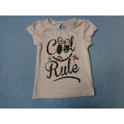 110-es fehér kislány póló