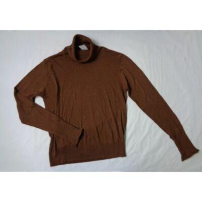 Női M-es barna garbónyakú vékony kötött pulcsi - Zara - felicity.hu ... 98d25a7bae