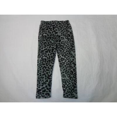 104-es szürke leopárdminás bélelt leggings - ÚJ