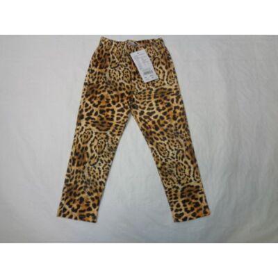 116-os leopárdmintás leggings - ÚJ