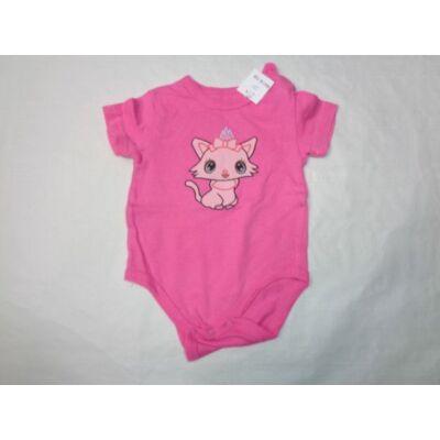 62-es pink cicás rövidujjú body
