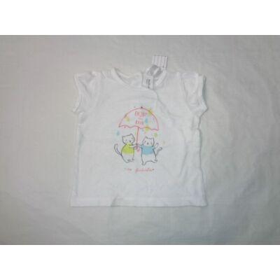 62-es cicás fehér lányka póló - C&A