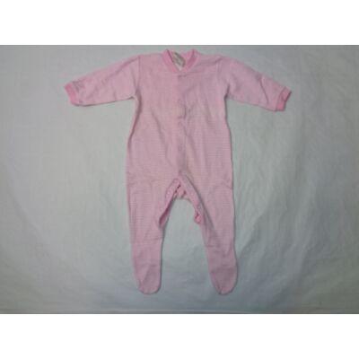 74-80-as rózsaszín csíkos pamutrugi - Tesco