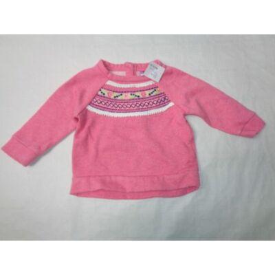68-as rózsaszín rátétes pulcsi - F&F