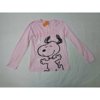 128-as rózsaszín kutyás pamutfelső - Snoopy