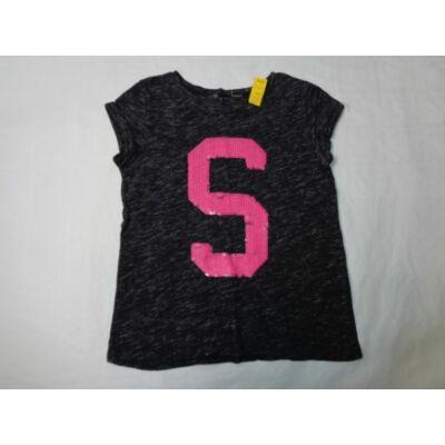 152-es fekete flitteres betűs póló