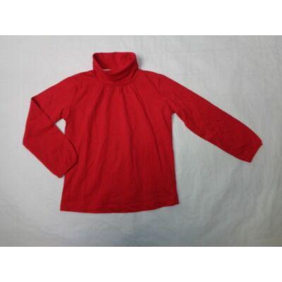 104-es piros lány garbónyakú pamutfelső - Zara