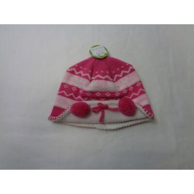 48-52 cm-es fejre pink téli sapka - ÚJ