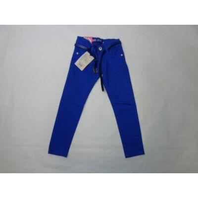 116-os kék öves lány farmernadrág - Grace - ÚJ