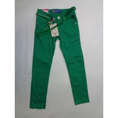 116-os zöld öves lány farmernadrág - Grace - ÚJ