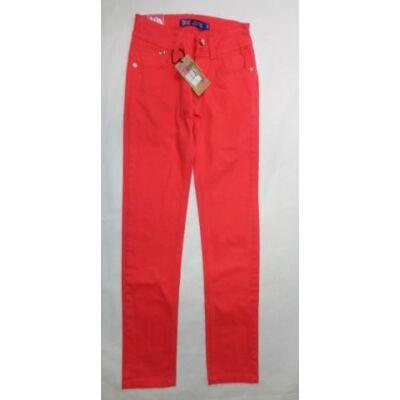 146-os piros lány farmernadrág - Grace - ÚJ
