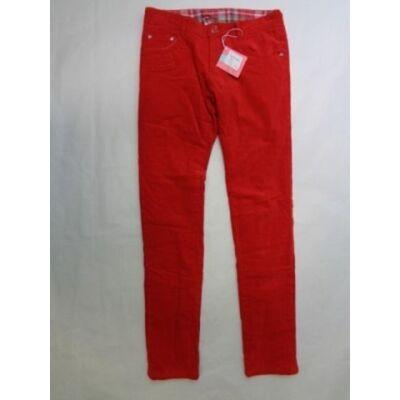 152-es piros lány kordnadrág polárral bélelve - ÚJ