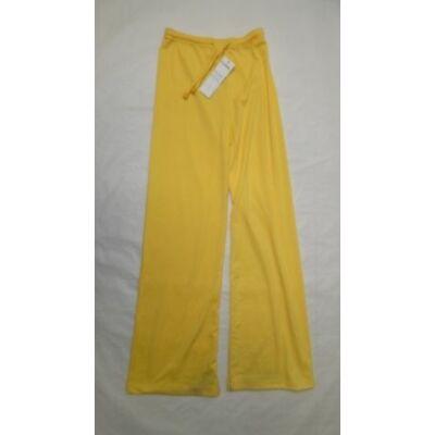 140-es sárga vékony lány tréningalsó - ÚJ