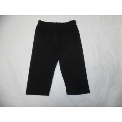 80-as fekete pamut térdig érő leggings - ÚJ