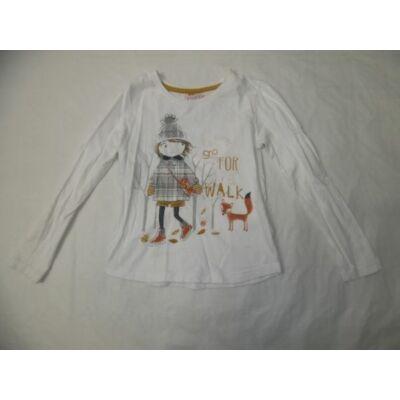 104-es kislányos fehér pamutfelső