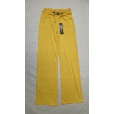 134-es sárga vékony gumis derekú tréningnadrág - ÚJ