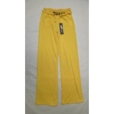 140-es sárga vékony gumis derekú tréningnadrág - ÚJ