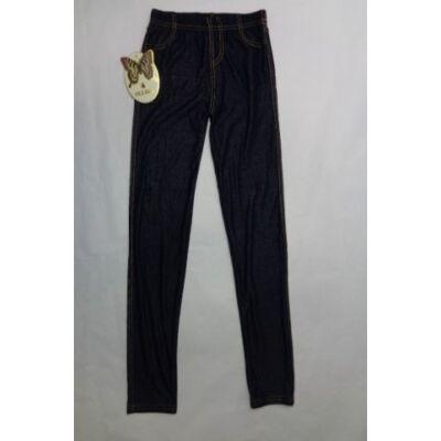 152-158-as farmerszínű leggings - ÚJ