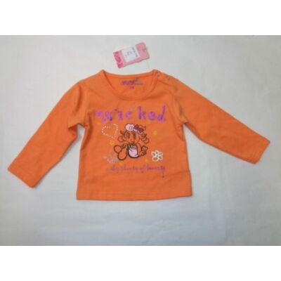68-as narancssárga kislány pamutfelső - ÚJ