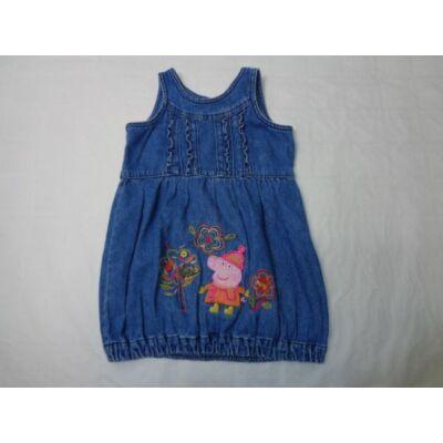 92-98-as figurás farmerruha - Peppa Pig - George