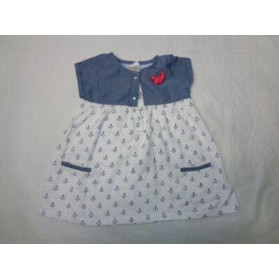 80-86-os fehér-kék horgonyos ruha - F&F
