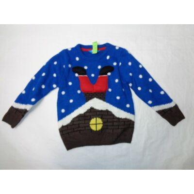 116-os kék télapós kötött pulóver - Rebel