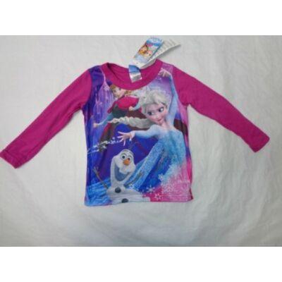 98-as mályva színű pamutfelső - Jégvarázs, Frozen - ÚJ