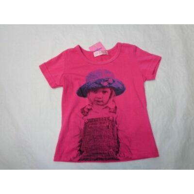 98-as rózsaszín kislányos póló - ÚJ