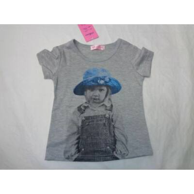 98-as szürke lányos póló - ÚJ