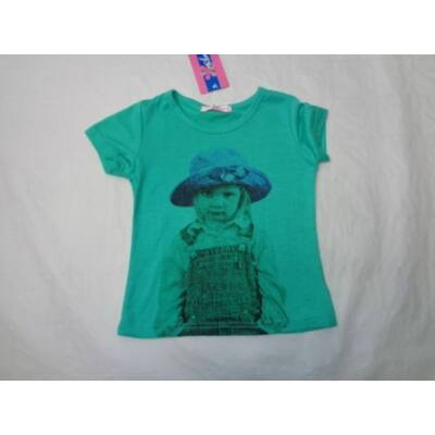 98-as zöld kislányos póló - ÚJ