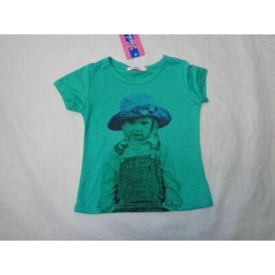 104-es zöld kislányos póló - ÚJ