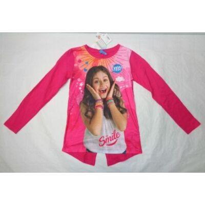 146-os pink pamutfelső - Soy Luna - ÚJ