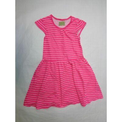 134-140-es pink csíkos pamutruha - Y.F.K