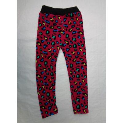 98-as pink leopárdmintás vastag leggings