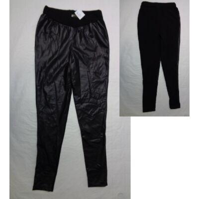 134-es szőrmével bélelt bőrhatású leggings - ÚJ