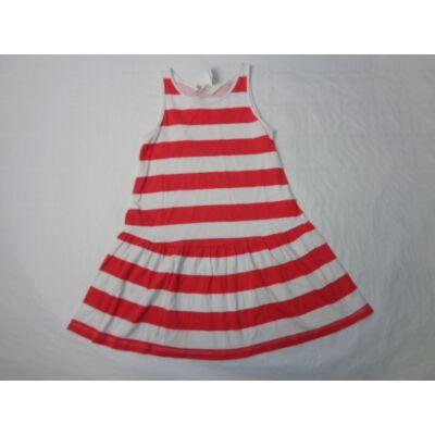 98-104-es piros-fehér csíkos pamutruha - H&M