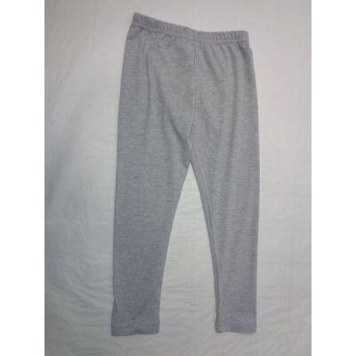 110-116-os szürke leggings, pamutnadrág - ÚJ