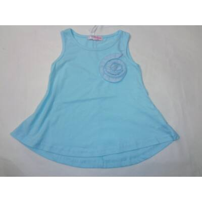 104-es kék virág-rátétes póló - Arino - ÚJ