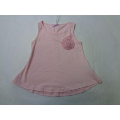 104-es rózsaszín virág-rátétes póló - Arino - ÚJ